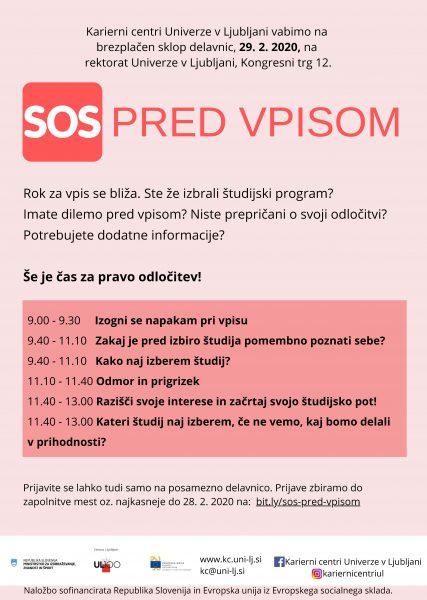 SOS pred vpisom