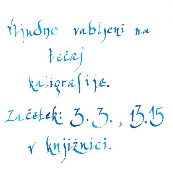Tečaj kaligrafije
