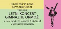 Letni koncert Gimnazije Ormož